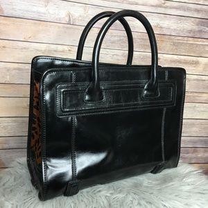 c5ade08456 Zara Bags - ZARA Black Animal Print Fur Tote Bag 💼